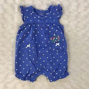 Carter's Baby Girl Summer Romper Polka Dots Flower